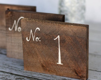 Rustic Table Numbers Calligraphy Barn Wood Wedding Decor Country Barn Shabby Chic (MHD20046)