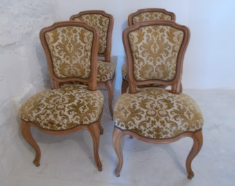 Vintage French Set of four Dining Chairs