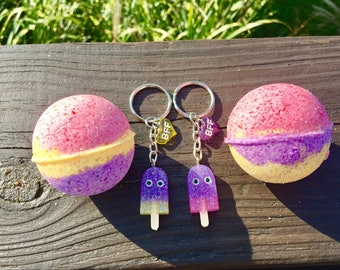 BFF, Best Friends Forever, Bath Bombs, Set of 2 or 3, Lavender & Mint, Best Friend Gift, Birthday Gift, set of 2, or 3.