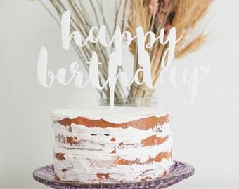 Happy Birthday Cake Topper, Baby Shower Cake Topper, Wedding Cake Topper, Anniversary Cake Topper, Birthday Cake Topper