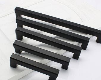 black kitchen cabinet pulls black cabinet pulls etsy 12385