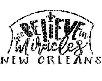 New Orleans Svg Cut File - Nola Svg Cut File - Louisiana Svg Cut File - Who Dat Svg - Football Svg - Superdome SVG - Silhouette File -