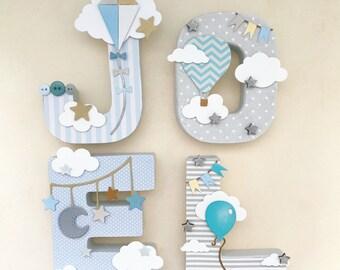Nursery letters for little boys, nursery wall art