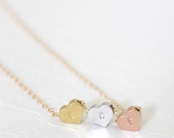 Best Friend Necklace Personalized, Three Best Friends Gift, Three Friends Necklace, Friendship Necklace, Personalized Hearts Necklace Dainty