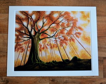 Giclée Print ''Autumn Tree''
