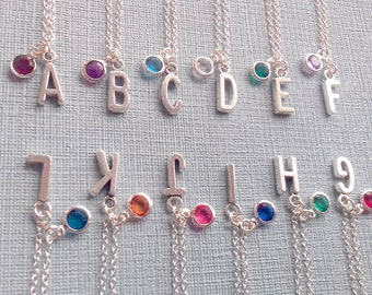 Personalize necklace - initial necklace - name necklace - monogram necklace - custom necklace - birthstone - bridesmaid necklace - dainty