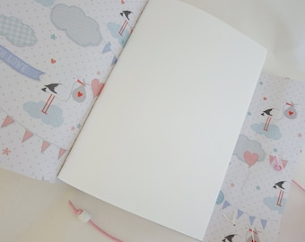Baby Book Gift Journal, Baby Shower, New Baby Gift, Baby Memory Book, Baby Scrapbook, Pregnancy Journal, Baby Guestbook, White Journal