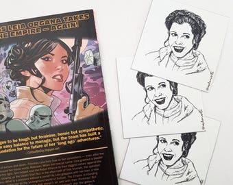 Princess Leia vinyl sticker