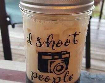 Hand Dipped Photography Mason Jar