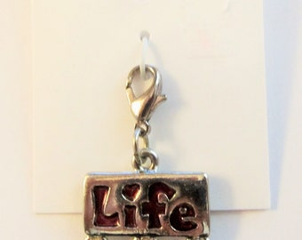 "Retired Girl Scout Studio 2B Life"" Charm  on Original Card"