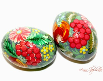Wooden painted egg, Pysanka, Egg of handmade, Egg-pendant, Easter egg, Pendant from egg, Wooden egg with hand-painted, Easter decoration