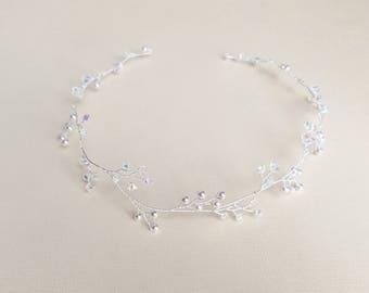 Bridal Hair Vine, Wedding Headpiece, Pearl Hair Piece, Crystal Vine, Hair Jewelry, Wreath, Tiara, Wedding Hairpiece, Hair Accessory