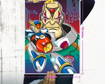 Mega Man X / Sigma / Super Nintendo Geekery Poster/ Fine Art Print / Retro Gamer Art