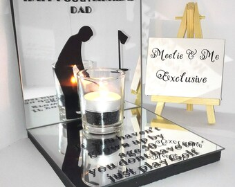 Dad Birthday Gift/ Customise Me* keepsake/birthday/50th/Fathers Day/for him/candle/tealight/mirror/personalised/for her/for him