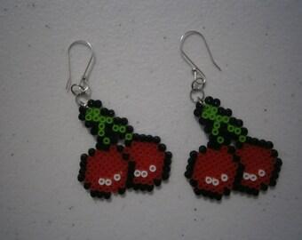 Cherry Perler Earrings