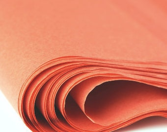Burnt Orange Tissue Paper 24 sheets | Bulk Tissue Paper | Rust, Terra-cotta, Dark Orange, Bittersweet