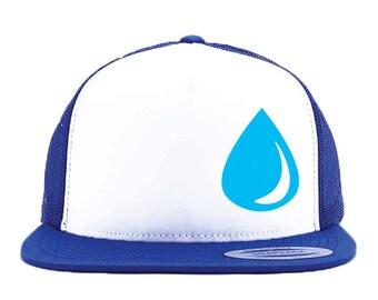 TEAR DROP, Anime Trucker Hat, Trucker Hat, Tear Drop hat, Geek Gift, Otaku Gift, Anime Gift, Otaku Trucker Hat, Anime Cosplay,  Cosplay Hat