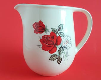 Vintage milk jug | Red rose jug | Kitsch decor | Valentines gift