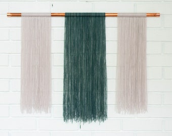 Copper + Yarn Two Tiered Wall Hanging
