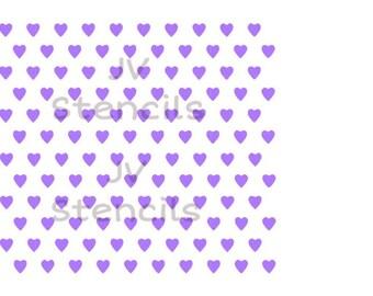 Mini Heart Stencil
