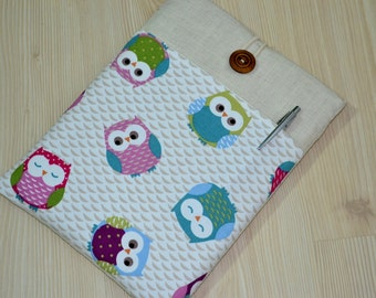Cute Owl-  iPad Mini Case Padded 7 inch Tablet Sleeve Cover with Pocket, ipad mini 4 case, ipad mini 3 case, Kindle cover