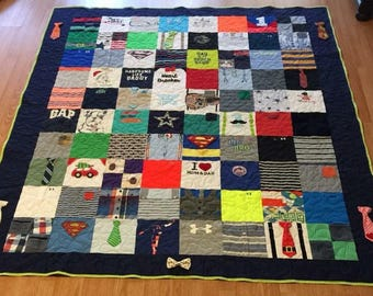 Custom Baby Clothes Quilt - Handmade Quilt out of Your Sweet Baby's clothes!! Pick your size!