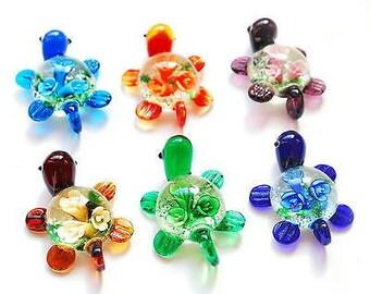 Murano Glass Turtle  Pendant- Choose Color