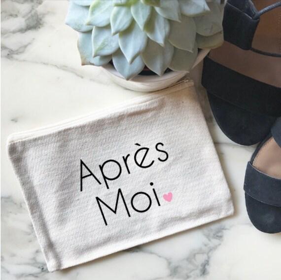 Canvas Cosmetic Bag: Apres Moi - French Makeup Bag