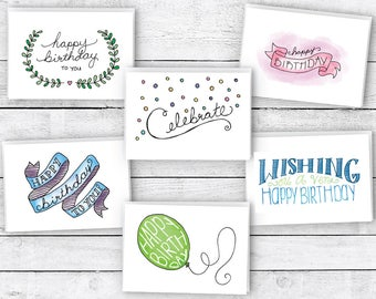 Happy Birthday Cards Variety Pack - 24 Cards & Envelopes