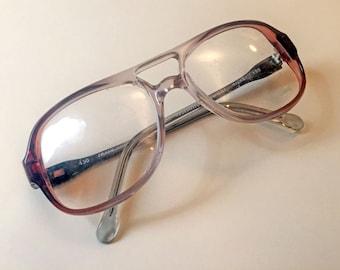 Tiffany Vintage 1980s Deadstock Eyeglasses Frames Womens Rose Fade Plastic Glasses France