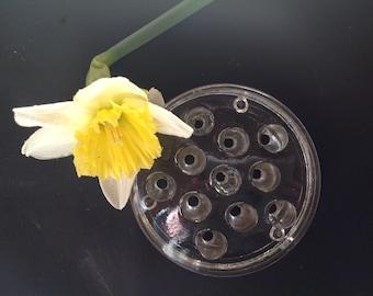 Glass flower holder