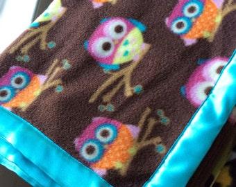 Owls Fleece Pet Blanket