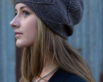 Sette Vele slouchy Hat PDF knitting pattern (instructions)