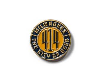 Milwaukee 414 The City of Beer Enamel Pin