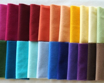 Hand Dyed Felted Wool Fabric in a Beautiful Collection of Colors a Perfect Rug Hooking Wool 3201