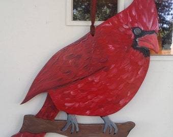 Winter Cardinal door hang