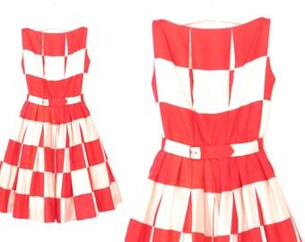 harlequin party dress * vintage 50s dress * 1950s dress * Suzy Perette dress * xs