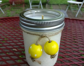 Citronella & a hint of Lemongrass Soy Candle