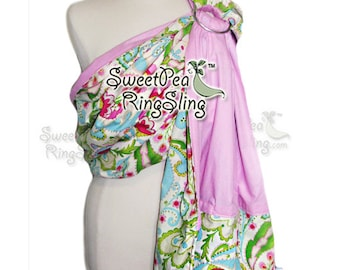 Baby Ring Sling SweetPea Ring Sling Made in the USA  Infant Carrier Wrap Reversible Babywearing Pocket Teja Kumari Pink Toddler Supportive