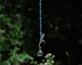 Swarovski Crystal Suncatcher, Hummingbird, Rainbow Maker, 20mm Clear Swarovski Crystal Ornament