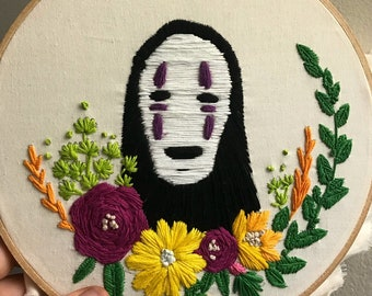 No Face from Spirited Away Embroidery