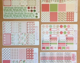 Weekly Planner Sticker- Shabby Chic: made to fit the Happy Planner, EC, Filofax, Kikki. K and more