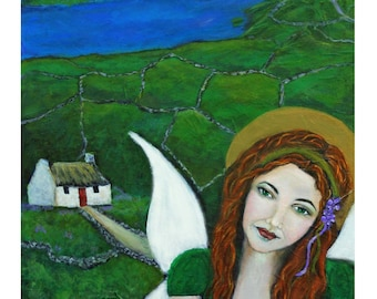 Fiona From Ireland, An Earth Angel Original Fine Art 8 by 10 print by Charlotte Phillips