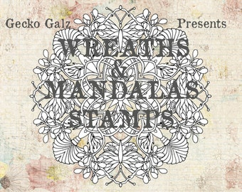 Wreaths & Mandalas Digital Stamp Set