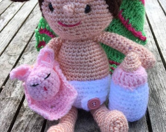 Little Me Playset Crocheted Doll