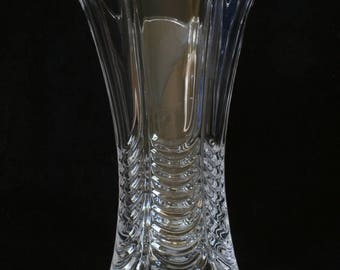11TH Hussars Table Vase Cut Crystal Glass Military Gift ME18