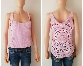 Give me Love Reversible Top Crochet Pattern *PDF FILE ONLY* Instant Download