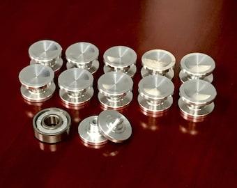 Fidget spinner aluminum buttons