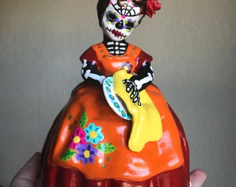 Day of the dead girl figure