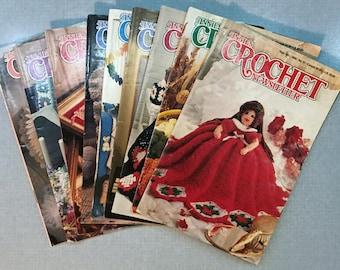Lot of 9 Vintage Annie's Crochet Newsletter Magazines 1985-1992